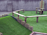 Outdoor Playground Nearly Grass